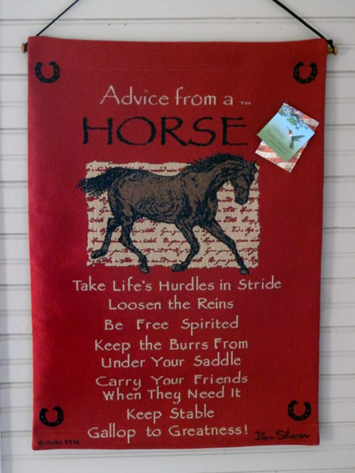 Tapestry Wall Hanging - Advice from a Horse