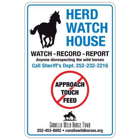 Herd Watch Metal Sign